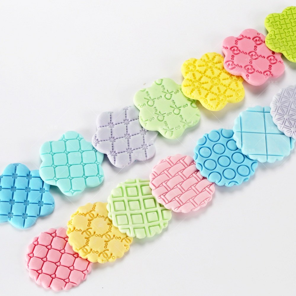 Cake Fondant Embossing Mould,9 Pack Different Patterns Fondant Embosser,Lace Flower Cookie Cutter Set,Diamond Shaped Biscuit Molds,Cake Fondant CupCake Decorating by Mity rain (Image #6)