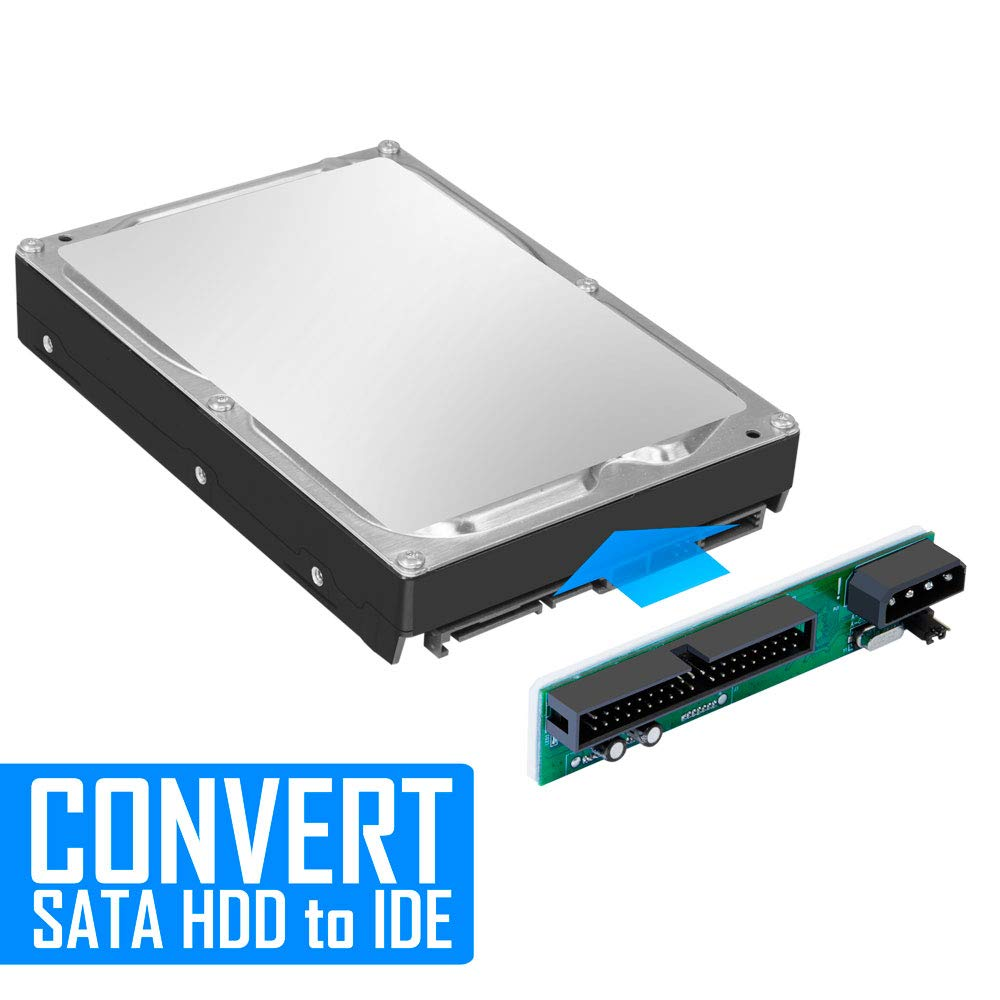 Kingwin SSD/SATA to IDE Bridge Board Adapter, Convert All SATA Devices  Easily to IDE  Support 2 5 Inch, 3 5 Inch HDD, & Compatible w/ SATA  I/II/III