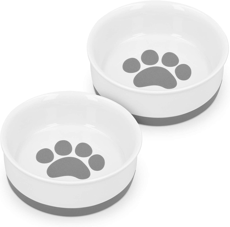 Navaris Porcelain Cat Bowls (Set of 2) - 5.8