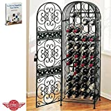 Storage Wine Rack Cabinet Metal Door Liquor Bottle Store Holes Cellar Indoor Tower Bar Store Furniture & Ebook by Easy 2 Find.