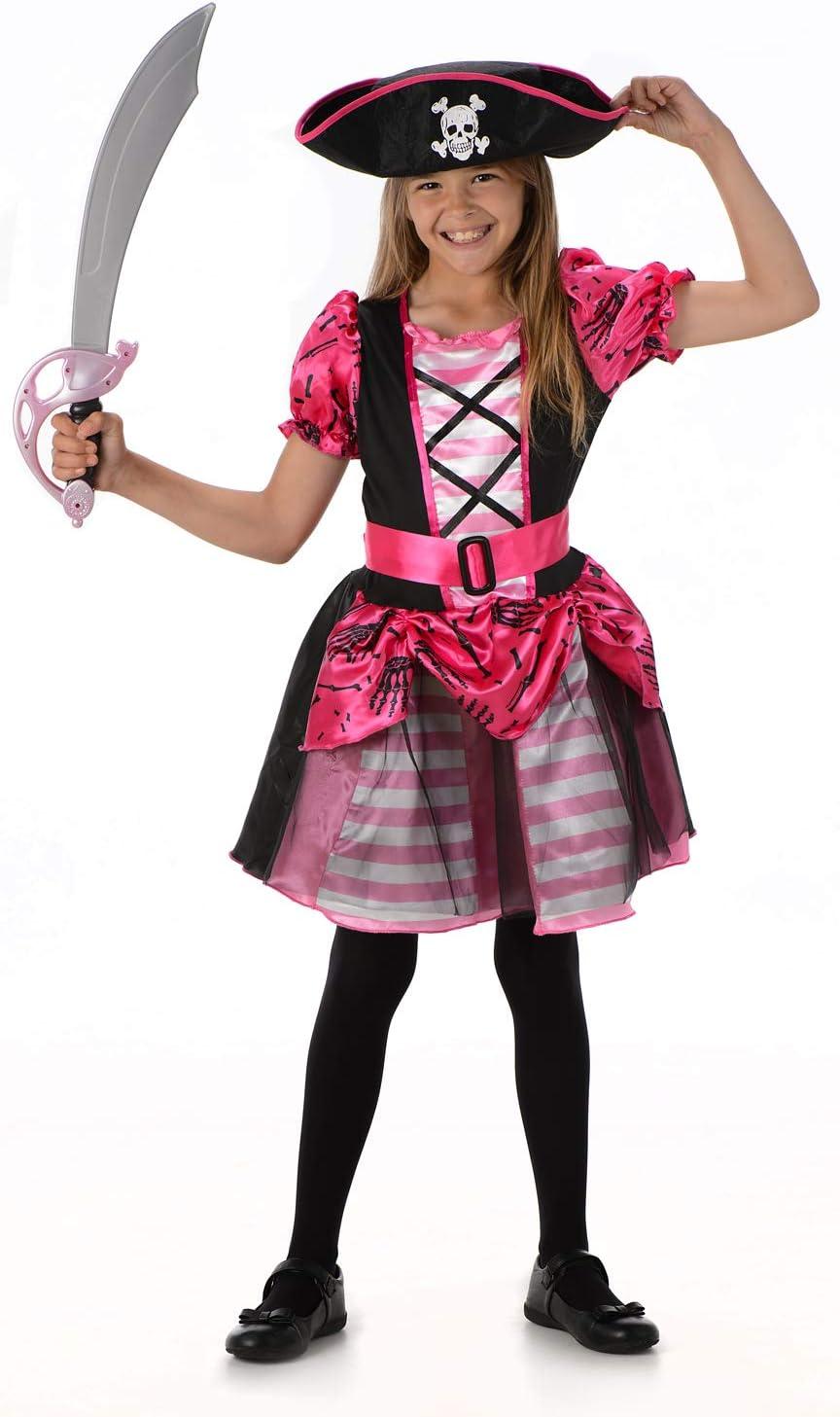Disfraz Pirata Bonita Disfraces Chicas Niña (Pequeño 3 -4 años ...