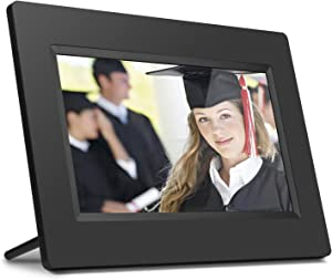 Aluratek 7 Inch LCD Digital Photo Frame with Auto Slideshow Using USB & SD/SDHC (ADPF07SF) – Black