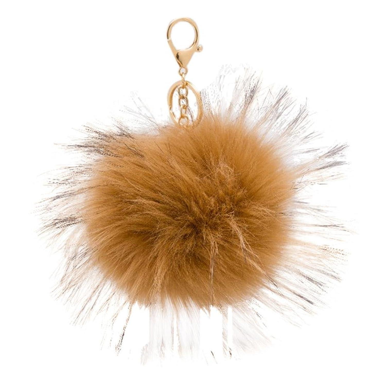 Amiley Keychain Key Ring Car Key , Metal Ball Keychain Bag Plush Ring Car Key