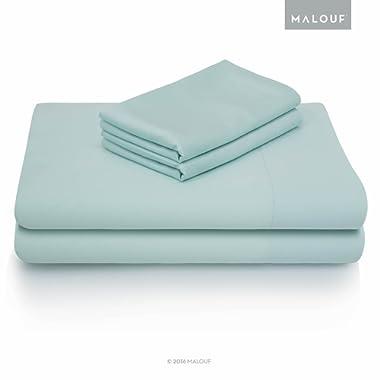 MALOUF 100% Rayon from Bamboo Sheet Set-4-pc Set, King, Rain