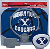 NCAA BYU Cougars Kids Slam Dunk Hoop Set, Blue, Small