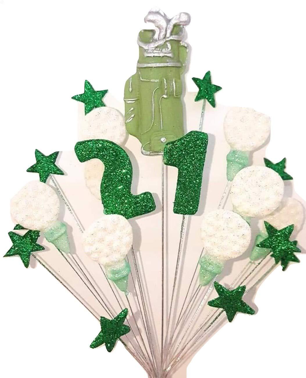 Stupendous Golf 21St Birthday Cake Topper Decoration Green White Handmade Personalised Birthday Cards Epsylily Jamesorg