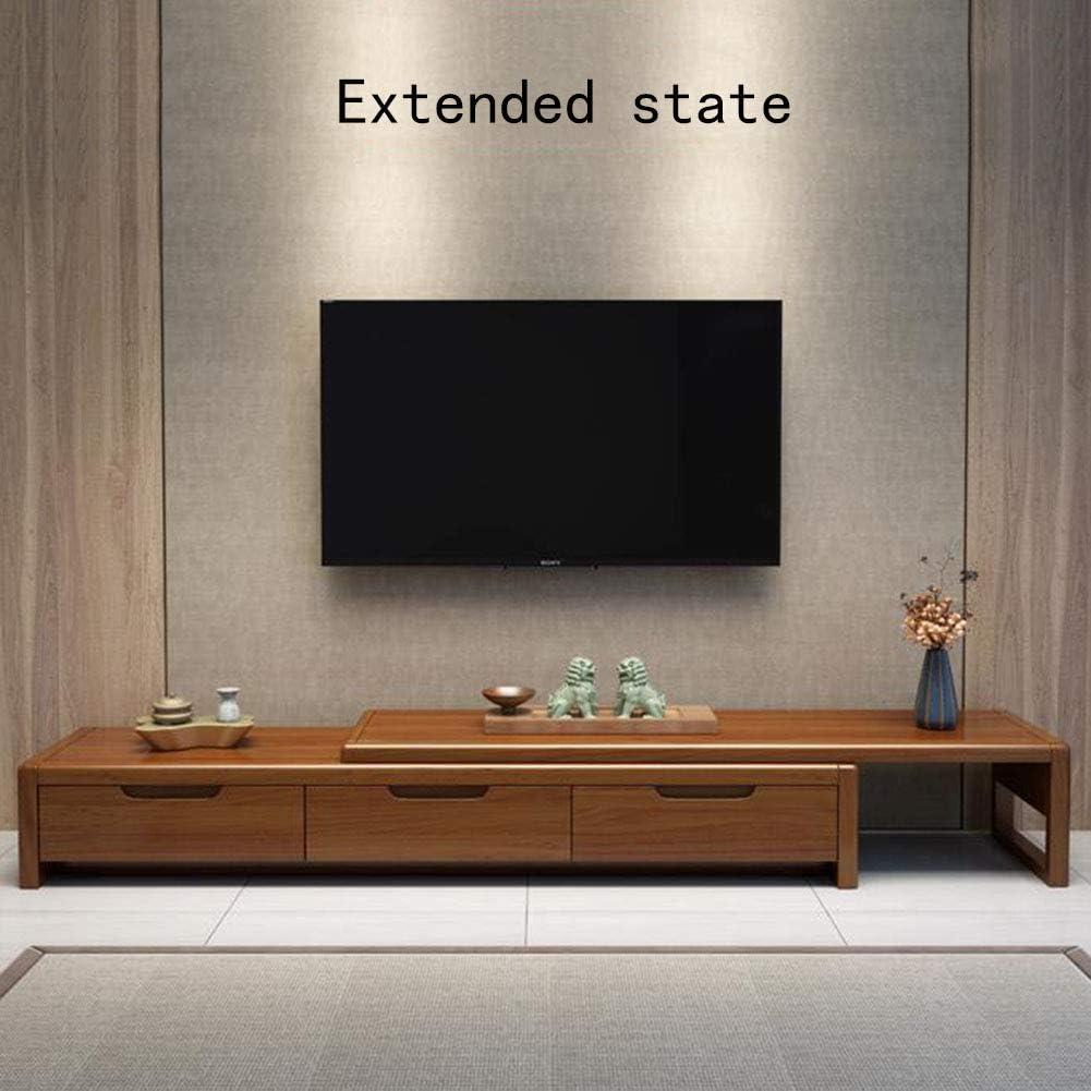 SXFYWJ Mueble Sala TV Muebles de Pino Bajos Estrechos para Estrecho Mesa con led rusticos Madera televisor aparadores Salon modulos televisión salón modulo Television Ruedas pequeño mesas: Amazon.es: Hogar