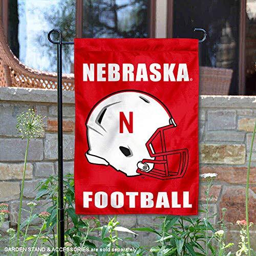 College Flags and Banners Co. Nebraska Huskers Football Helmet Garden Flag