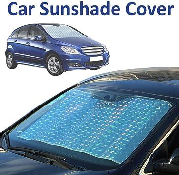 YOUNICER Car Front Windscreen Windshield Sun Shade Aluminum Keeping Your Vehicle Cool UV Ray Protector Sunshade UV Parasol Heat Reflector Silver
