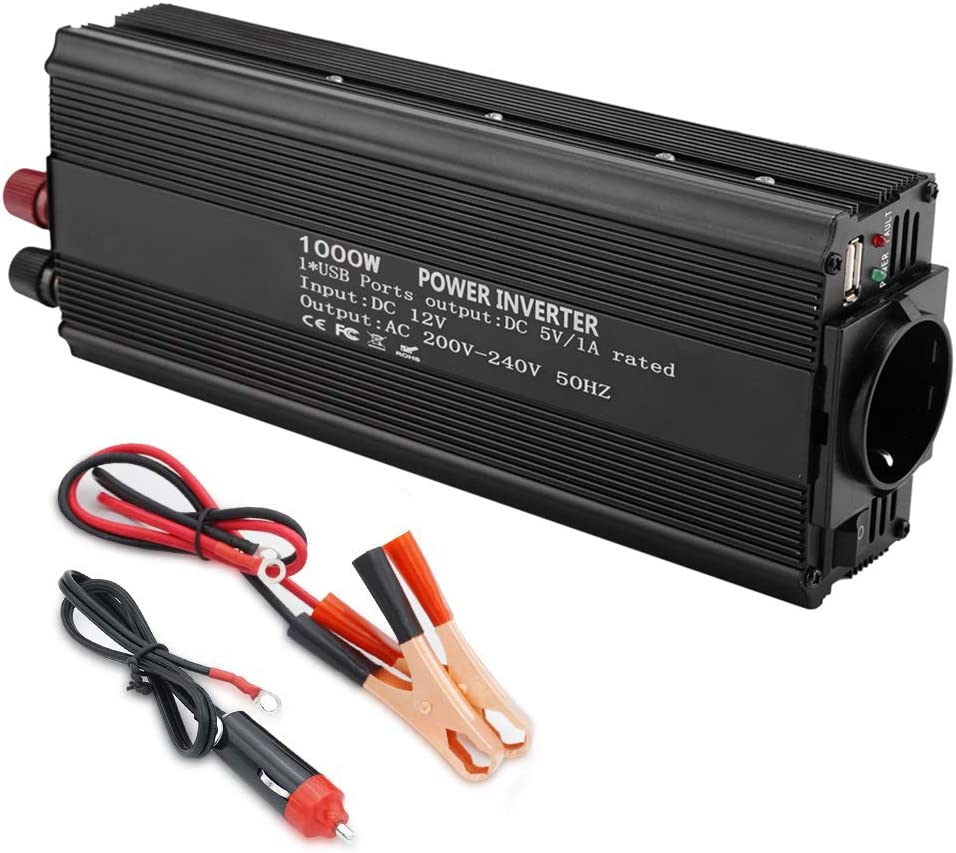 Inversor de onda modificada de 12 V convertidor 220 V 1000 W de potencia onda modificada de potencia continua inversor de coche
