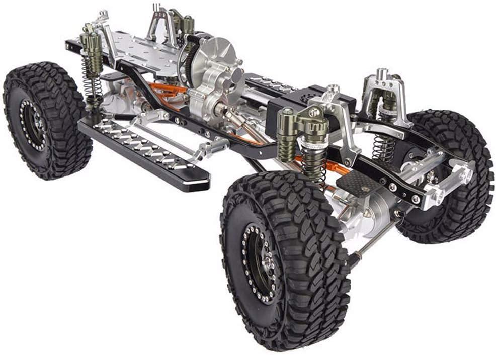 HYLH RC CNC Alloy SCX10 Chasis 1/10 Escala 4WD Rock Crawler ...