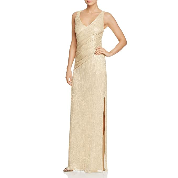 6ea544423e Image Unavailable. Image not available for. Color: Laundry by Shelli Segal  Womens Sleeveless Full-Length Evening Dress Metallic 2