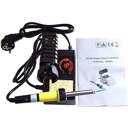 ZD de 98 regulable Soldadura Soldador 150 – 450 °C 48 W populares tipo negro