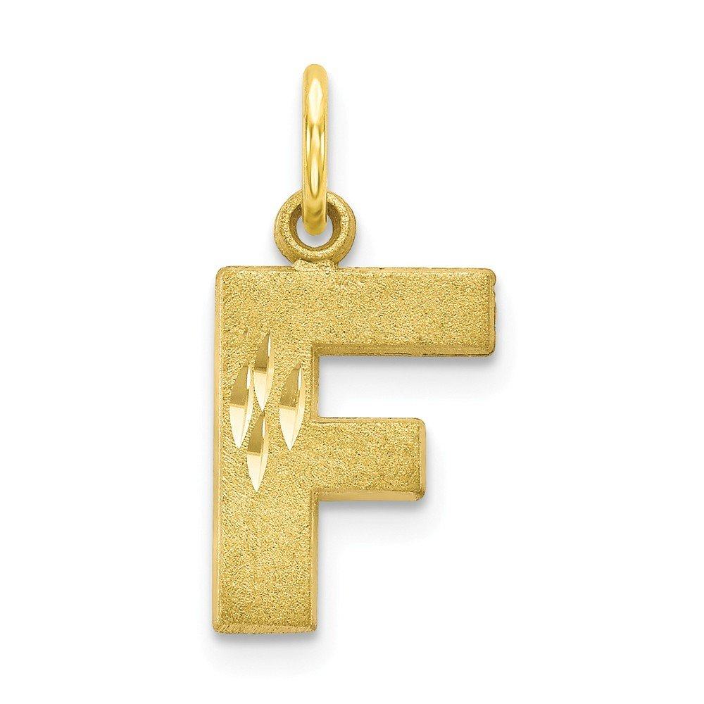 Mia Diamonds 10k Yellow Gold initial F Charm