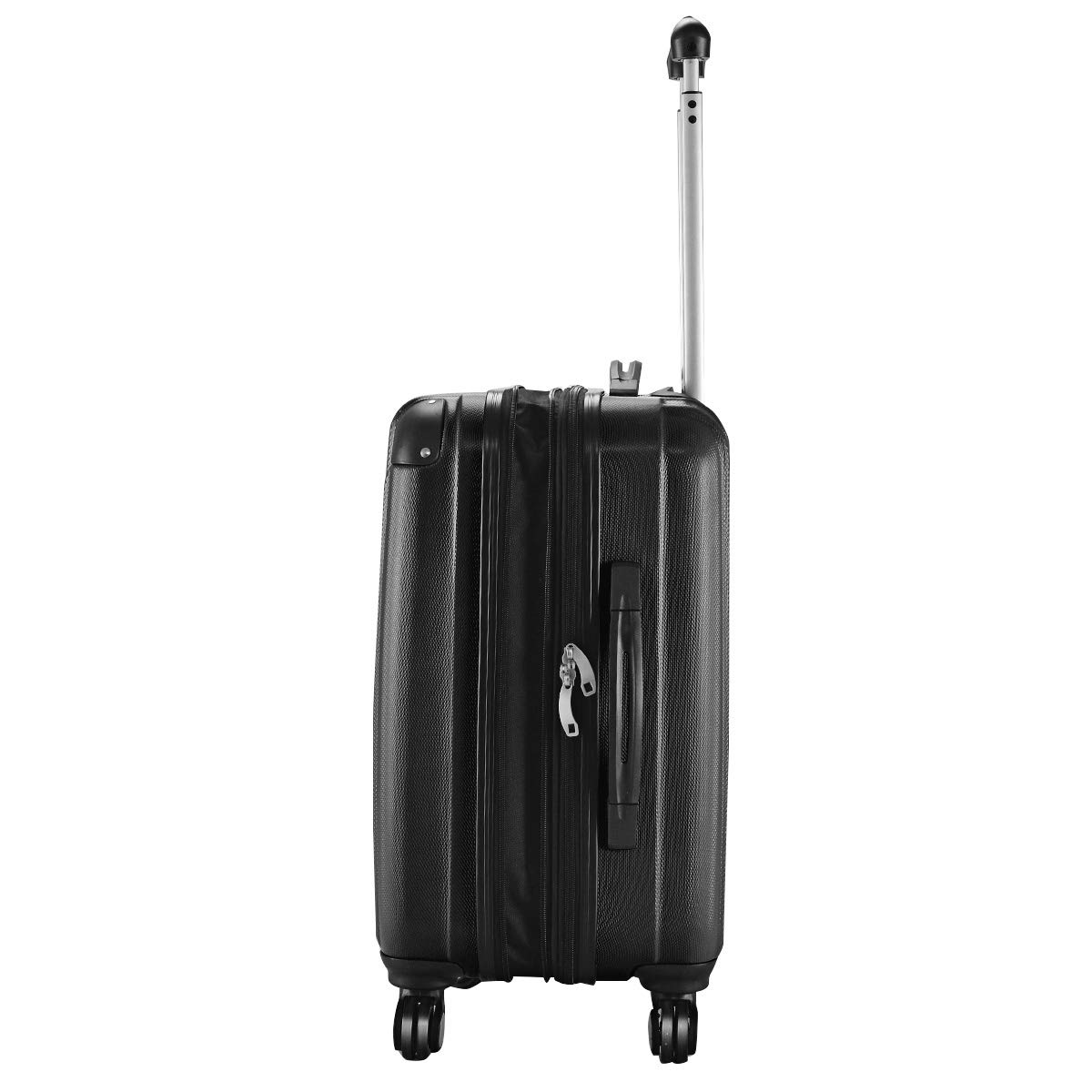 Goplus 20'' ABS Carry On Luggage Expandable Hardside Travel Bag Trolley Rolling Suitcase GLOBALWAY (Black) by Goplus (Image #3)