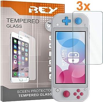 REY 3X Protector de Pantalla para Nintendo Switch Lite, Cristal ...