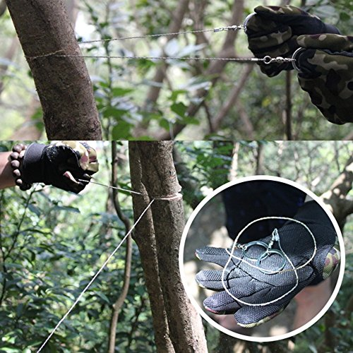 Rope Saw Wire Saw Pocket Chainsaw Metal Wire Saw Mini Metal Saw Rope Chain Saw Survival Gear Supplies 1pcs Stainless Steel Wire Saw Outdoor Practical Emergency Survival Gear Tools