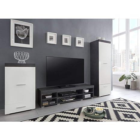 roomindo - Mueble de Pared para salón, Armario, Combi, 3 ...