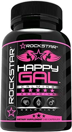 Happy Gal, Plant-Based Supplement to Sooth, Relax, and Support- 60 Count