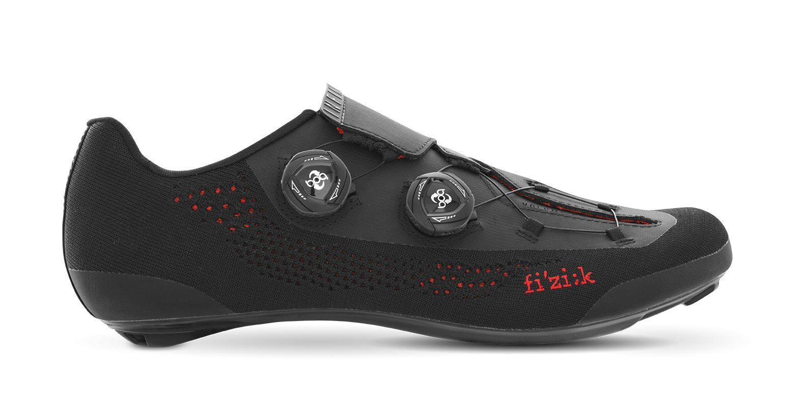 Fizik R1 INFINITO Shoes, Black Knitted, Size 37.5