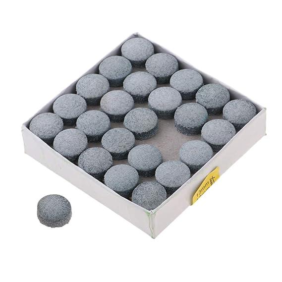 Box Billar Snooker Pool Leather Cue Tip Reemplazo Proveedor 0.5 Pulgadas SM SunniMix 50pc