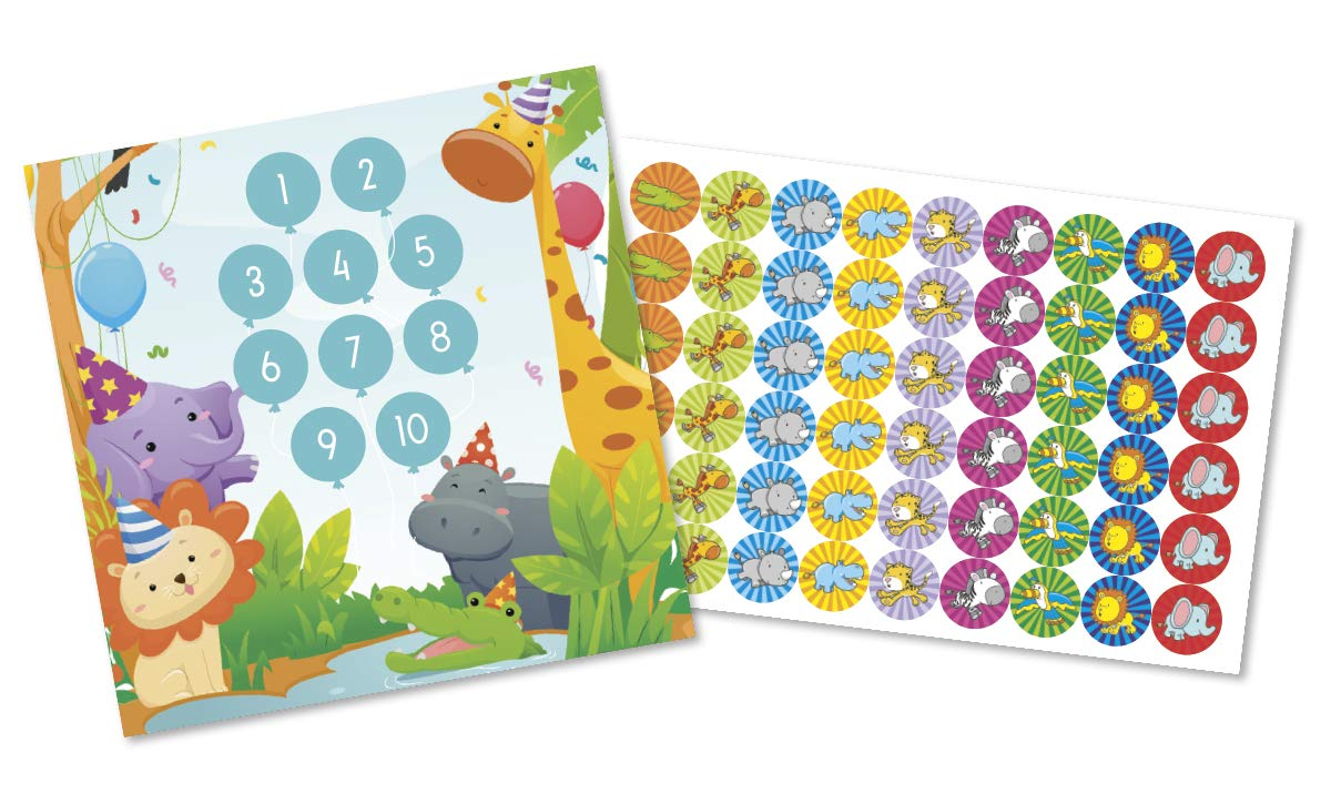 Belohnungsprogramm Partytiere mit grossen Tier-Stickern T/öpfchen-Trainer f/ür Kleinkinder Toiletten Aufkleber verf/ärbende Sonne