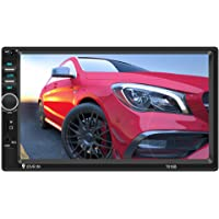 """7"""" Double 2 Din Car Stereo Kit with Bluetooth Touch Screen 7018B DVD Stereo Audio Support Mirror Link Play, MP5/TF/SD…"""