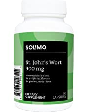 Amazon Brand - Solimo St. John's Wort 300 mg, 90 Capsules, One Month Supply