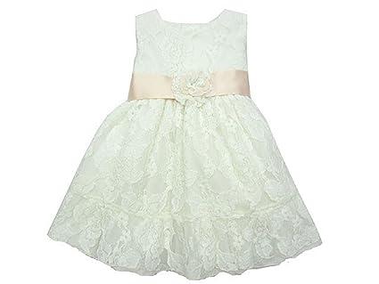Vestido de Ceremonia, Bautizo, Bodas,Arras de Bebe Niña para 6 Meses,