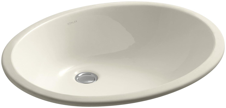 KOHLER K-2211-G-0 Caxton Undercounter Bathroom Sink, White ...