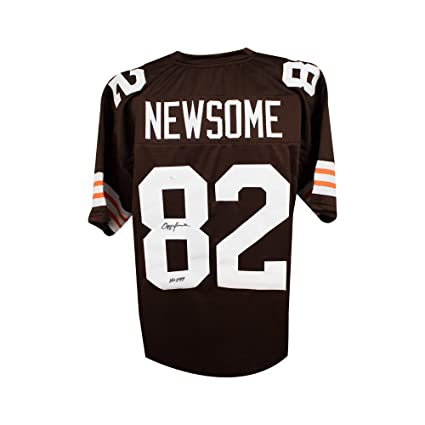 newest d9431 de0e3 Ozzie Newsome HOF Autographed Cleveland Browns Custom Brown ...