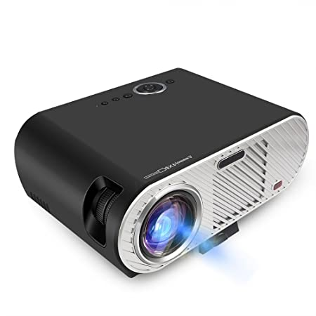 Mengshen Proyector Video Portátil, Proyectores LED 3200 Lúmenes 1080P Soporte LCD Cine en Casa con VGA USB SD Interface PC TV Juego Hogar MS-GP90