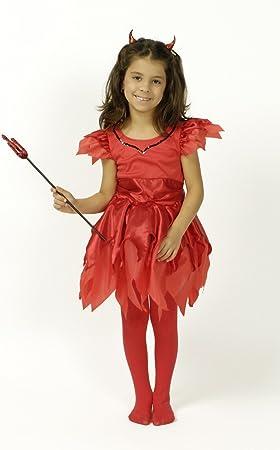 Körner Festartikel Disfraz de diablesa niña 6-8 años (116/128 ...