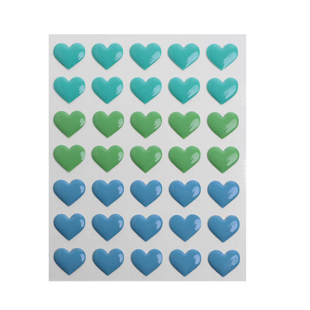 SimpleLife Heart Shape Enamel Dot Self Adhesive Embellishment for Cardmaking and Craft DIY