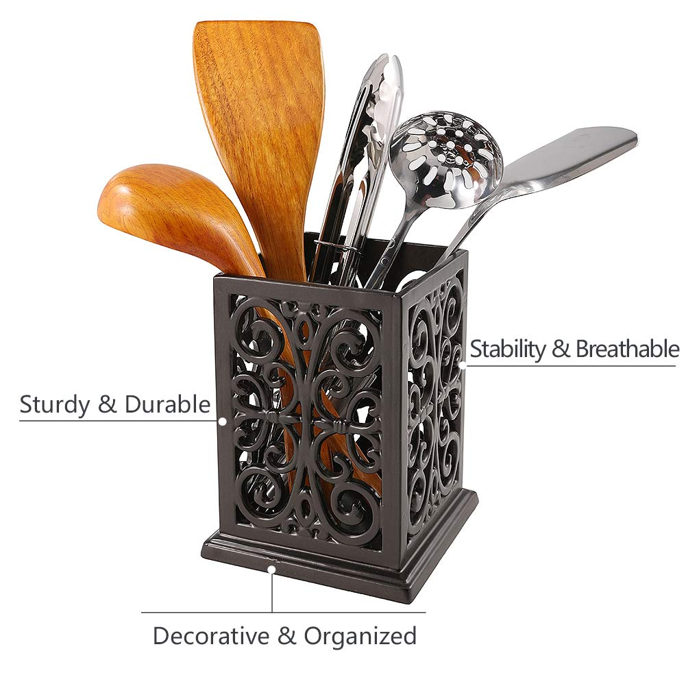 Vintage Decorative Kitchen Utensil Holder Cooking Utensil Organizer Perfect Gift for Cooking by JOGREFUL (Image #3)