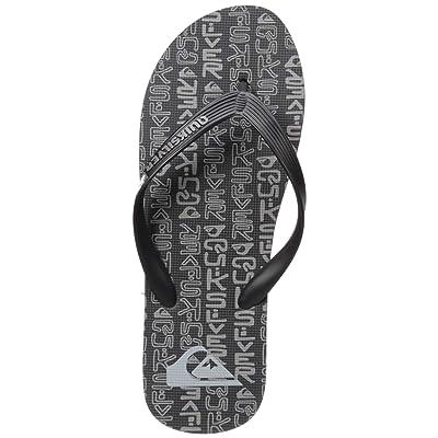 Quiksilver Men's Molokai Random Sandal, Black/Grey/Black, 13(46) M US: Shoes