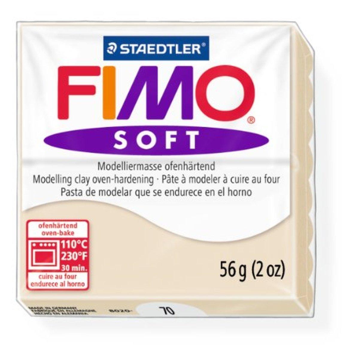 Staedtler Fimo Soft Sahara (70) Horno Bake Modelado Moldura Arcilla Bloques 56g, 1 pack