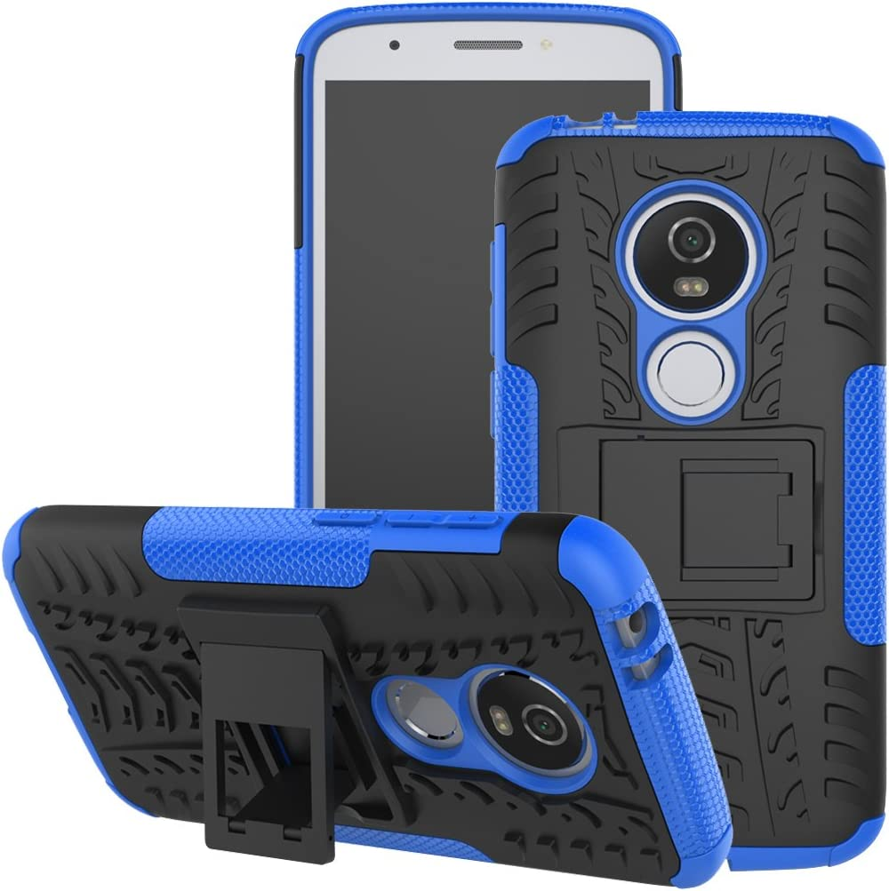 Viodolge Moto E5 Play Case, Moto E5 Cruise case, [Shockproof] Rugged Dual Layer Protective Phone Case Cover with Kickstand for Motorola Moto E5 Play XT1921 2018 (Blue)