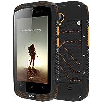 AGM A2 RIO Outdoor Teléfono Android 5.1 Quad Core 2GB + 16GB Cámara 8.0MP IP68 Impermeable Anti-agua Antí-choques Anti-polvo Móviles Smartphone Resistentes 2600mAh GPS NFC Negro [AGM Oficial]