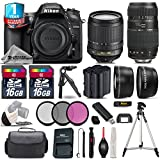 Holiday Saving Bundle for D7200 DSLR Camera + Tamron 70-300mm Di LD Lens + 18-105mm VR Lens + Backup Battery + 1yr Extended Warranty + 2 Of Ultra Fast 16GB Class 10 + Case - International Version