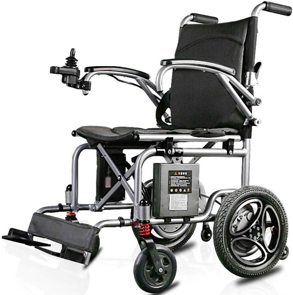 GAXQFEI Plegable doble función Silla de ruedas eléctrica, inteligente silla de ruedas eléctrica automática, Anchura del asiento 40 cm, Capacidad de carga 100 Kg,