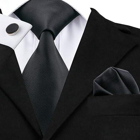 WOXHY Corbata de los Hombres Sn-840 Juego de Gemelos Hanky con ...