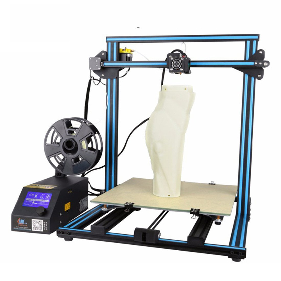 3D Printer Creality CR 10 Blue 3D Printer 300×300×400mm Large Building Volume 0.05mm Cura PLA Free Filament & Tool Box