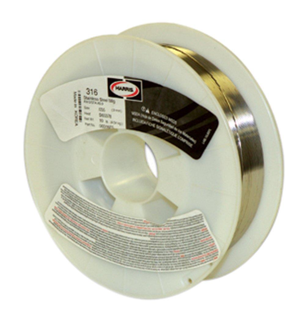 Harris 00316F8 316 Welding Wire, Stainless Steel Spool, 0.035'' x 25 lb.
