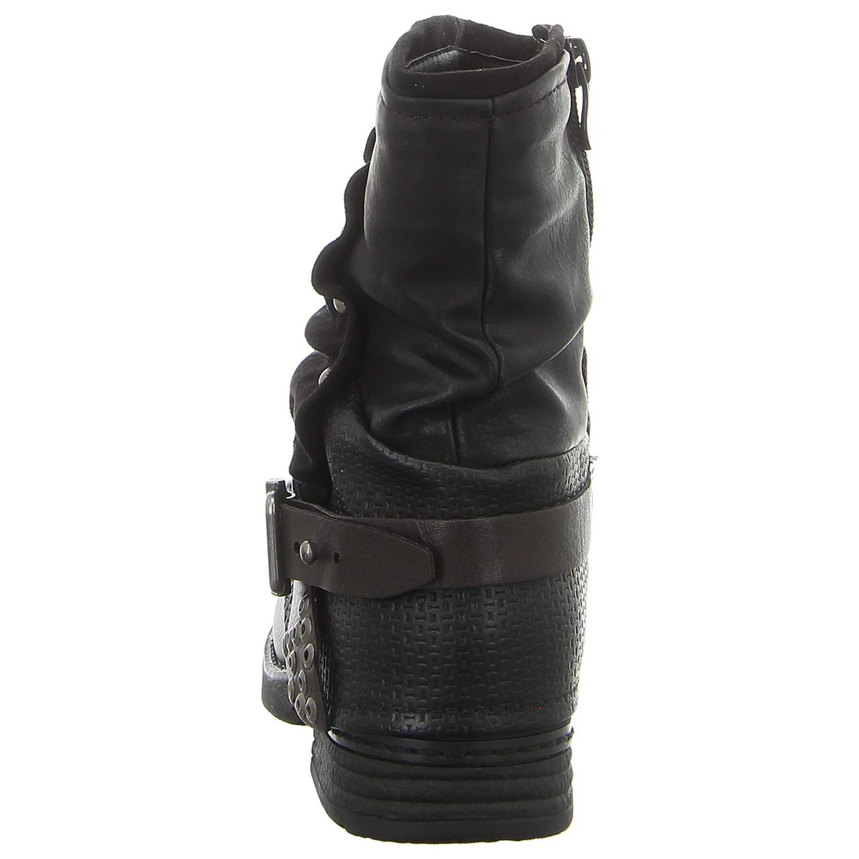 Laufsteg München Damen Stiefeletten Stiefeletten Stiefeletten HW180208 schwarz schwarz 565886 67c7fd