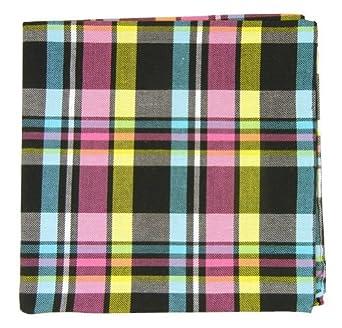 The Tie Bar Sole Plaid 100/% Cotton Pocket Square