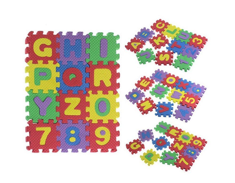 Letras y cifras de espuma EVA puzzle: Amazon.es: Juguetes y juegos