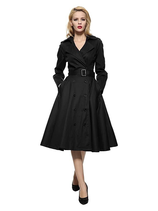 1950s Cocktail Dresses, Party Dresses Maggie Tang Vintage Elegant Swing Coat Rockabilly Tunic Classical Party Dress $69.99 AT vintagedancer.com