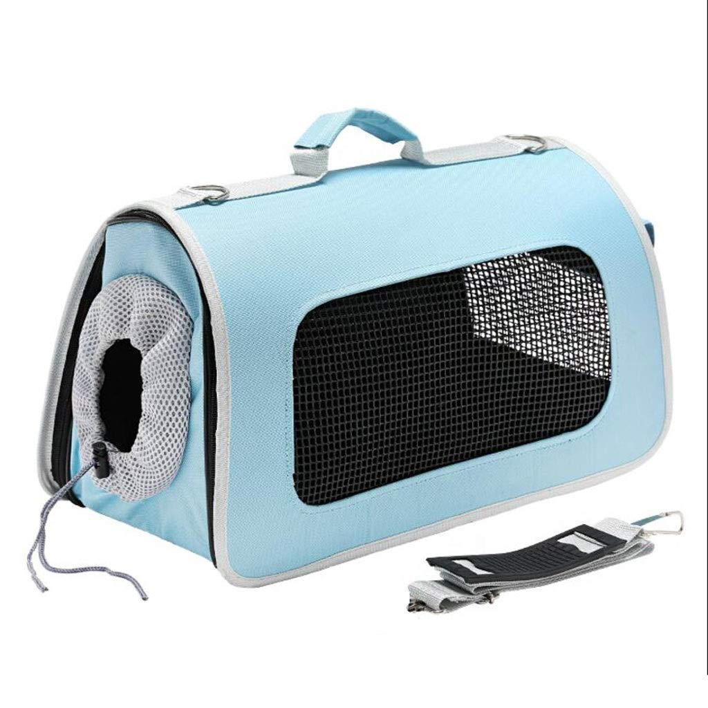 bluee 522229cmPet box Out Of The Cage Breathable Cat Dog Portable Diagonal Transport Travel Car Consignment 3 colors MUMUJIN (color   Black, Size   42  21  25cm)