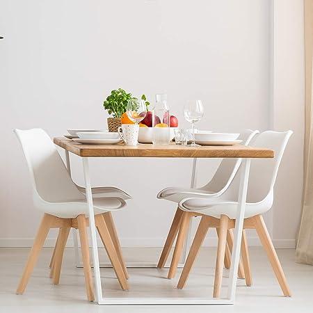 Vadim Chaise Scandinave Blanc Lot De 4 Chaises De Cuisine Retro